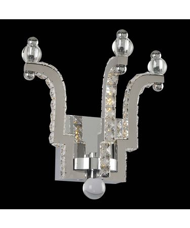 Shown in Polished Chrome finish and Firenze crystal