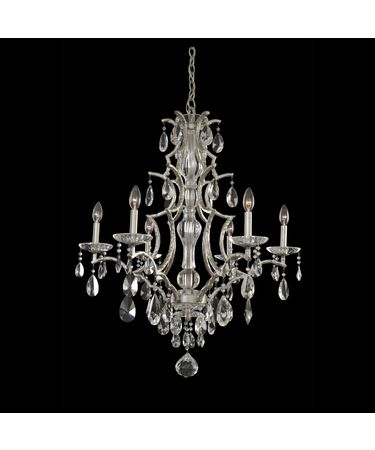 Shown in Silver Dollar finish and Firenze Clear crystal