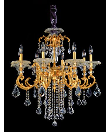 Shown In French Gold and Clear Firenze Crystal