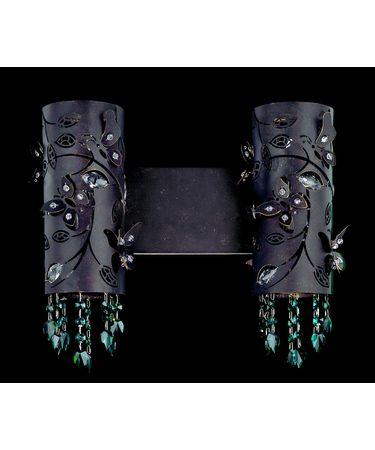 Shown in Sienna Bronze finish and Swarovski Elements Emerald crystal