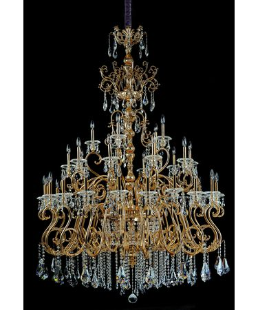 Shown In Antique Brass and Clear Firenze Crystal