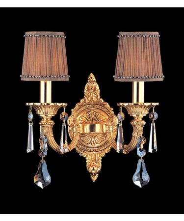 Shown in Antique Brass finish and Firenze Fleet Gold crystal