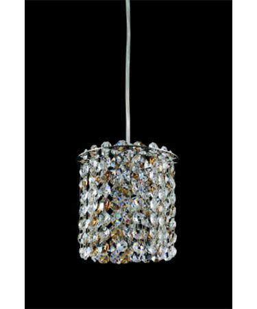 Shown in Polished Chrome finish and Spectra Clear crystal