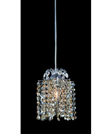Shown in Polished Chrome finish and Firenze Clear with Blue Violet Accents crystal