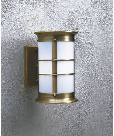 Shown in Antique Brass finish with White Opalescent glass