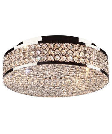 Shown in Stainless Steel finish and Circular crystal