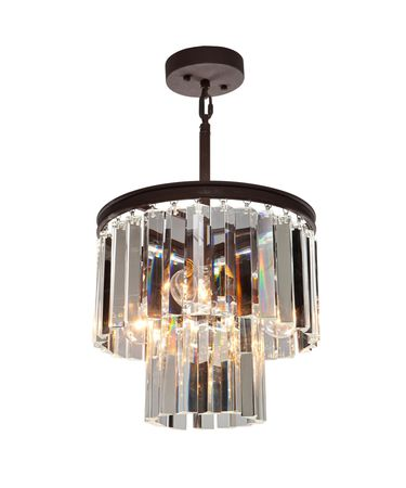 Shown in Java Brown finish and Long Shaped crystal