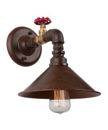 Shown in Brown and Rust finish