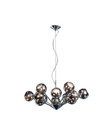 Shown in Polished Chrome finish and Metallic Plated glass