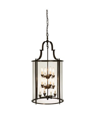 Shown in Oil Rubbed Bronze finish and Clear Curved glass