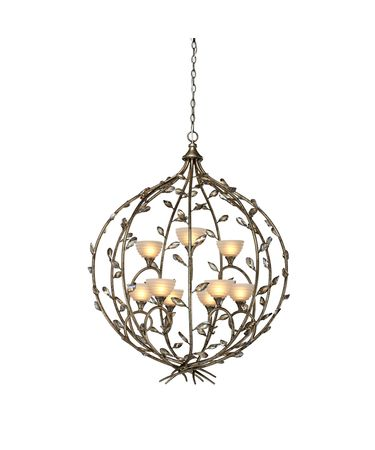 Shown in Bronzed Gold finish, Amber glass and White Fabric shade