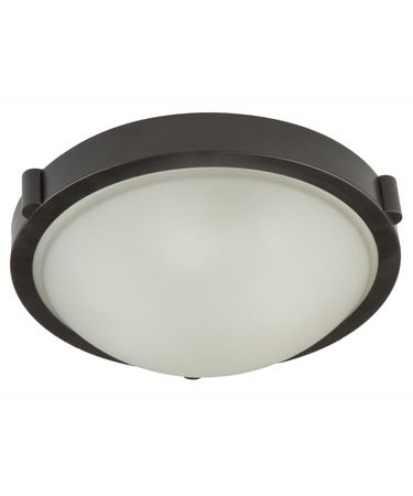 Shown in Oil Rubbed Bronze finish, White Frosted glass and Pleated Off White shade