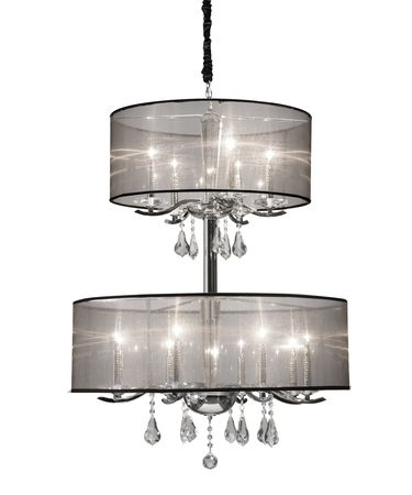 Shown in Chrome finish and Pure Crystal Droplets crystal