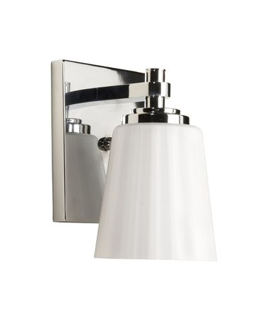 Shown in Chrome finish and Acid Frosted Satin Reeded glass