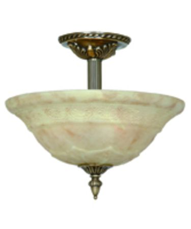 Shown in Antique Brass finish, Light Cream glass and White Pleated shade