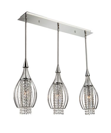 Shown in Chrome finish and Cut crystal