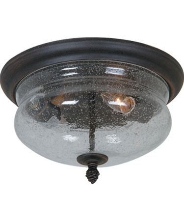 Shown in Bronze finish and Clear Seeded glass