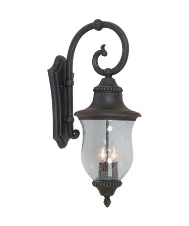 Shown in Bronze finish, Clear Seeded glass and Organza Silk shade