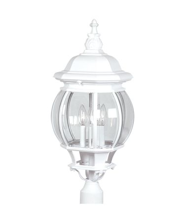 Shown in White finish, Clear glass and Crystal accent