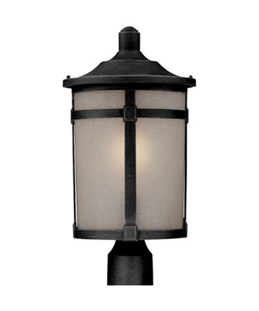 Shown in Black finish and Soft Linen glass