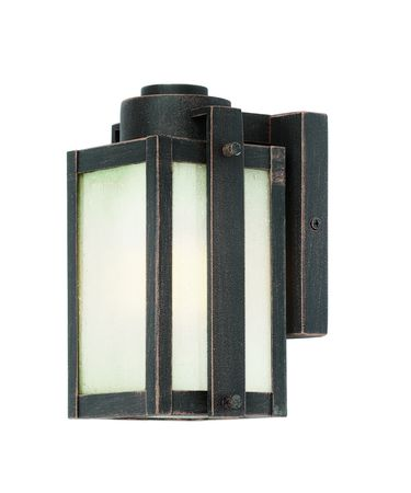 Shown in Oil Rubbed Bronze finish and Frosted Seeded glass