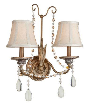 Shown in Bronze finish, Clear and Amber crystal and Crystal Drops accent