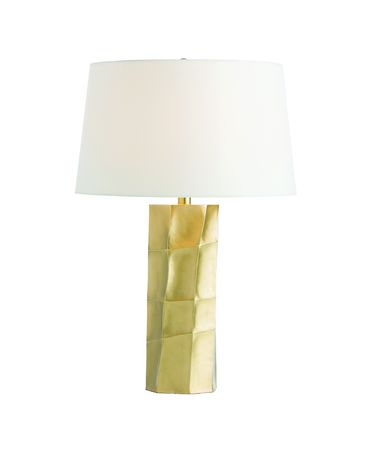 Shown in Matte Brass finish and Ivory Microfiber shade