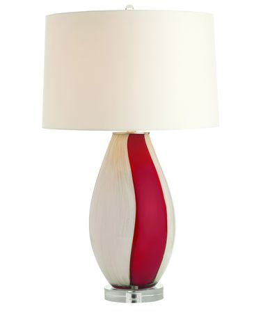Shown with  and Red-White-Gold Blown glass