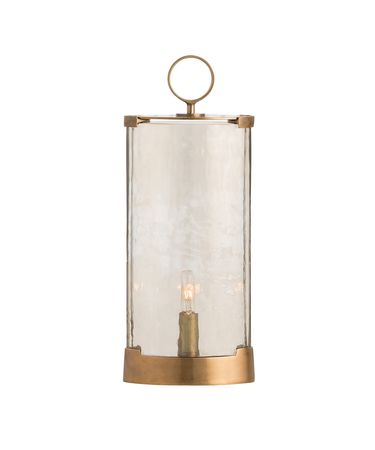 Shown in Smoke Luster-Antique Brass finish