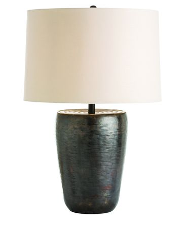 Shown in Antique Bronze finish, Brown glass and Light Beige shade