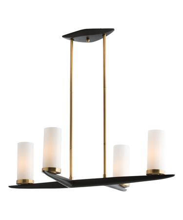 Shown in Antique Brass finish and Opal glass