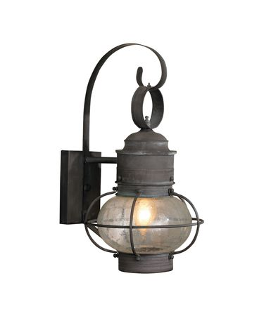 Shown in Charcoal finish and Onion Shaped Seeded glass