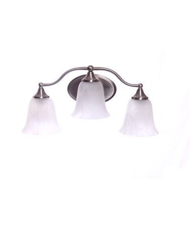 Shown in Satin Nickel finish and White Alabaster glass