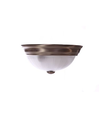 Shown in Antique Brass finish and White Alabaster glass