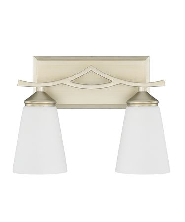 Shown in Soft Gold finish and Soft White glass