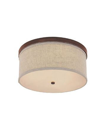 Shown in Burnished Bronze finish, Frosted Diffuser With Finial glass and Beige Fabric shade