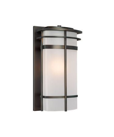Shown in Olde Bronze finish and Frosted glass