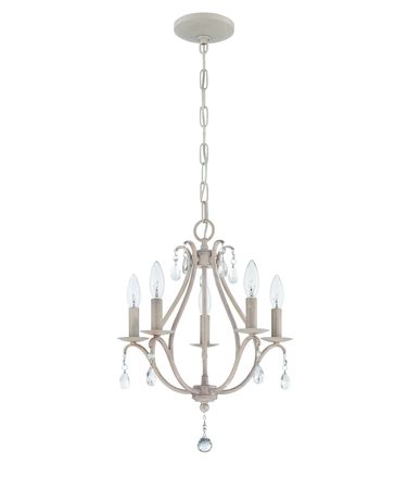 Shown in Antique Linen finish and Clear crystal