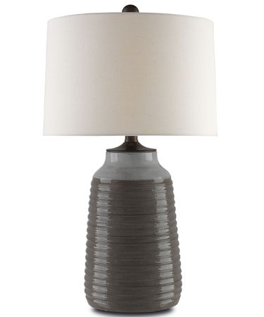Shown in Light Gray-Charcoal Gray-Bronze Verdigris finish and Fleck Linen shade
