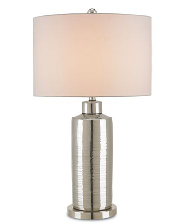 Shown in Nickel-Silver finish and Blanco Linen shade