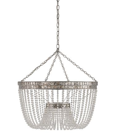 Shown in Contemporary Silver Leaf-Distressed Silver Leaf finish