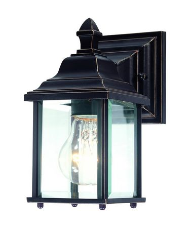 Shown in Antique Bronze finish and Beveled glass