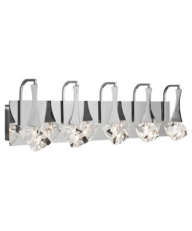 Shown in Chrome finish and Clear K9 crystal