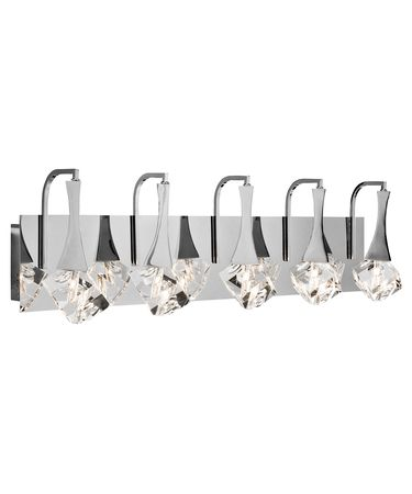Shown in Chrome finish and Clear K9 Crystal crystal