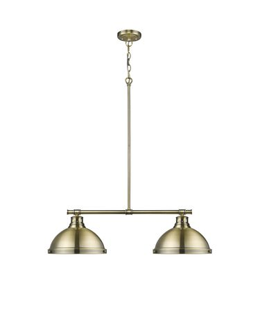 Shown in Aged Brass finish and Aged Brass  shade