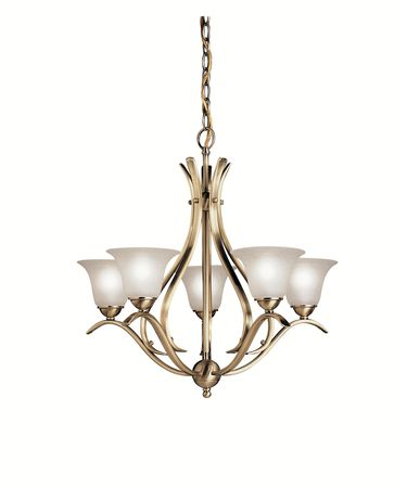 Shown in Antique Brass finish and Etched Seedy glass