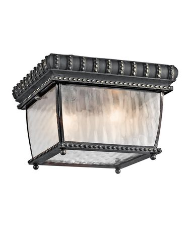 Shown in Black with Gold finish and Vertical Rain glass