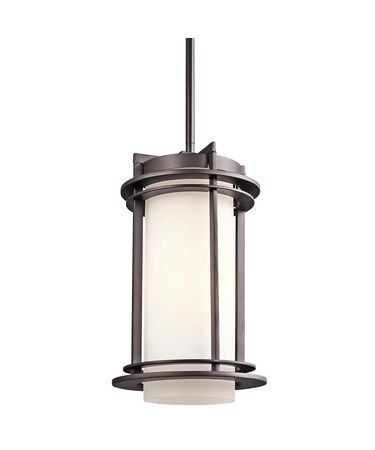 Shown in Architectural Bronze finish and Satin Etched Cased Opal glass
