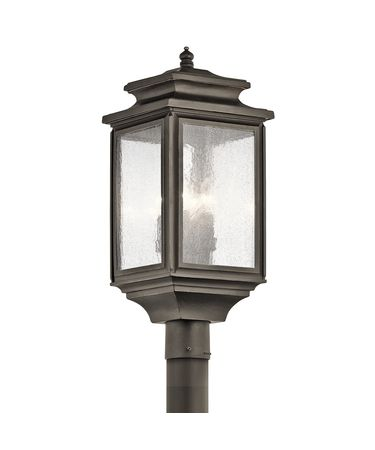 Shown in Olde Bronze finish and Clear Seedy glass