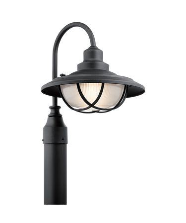 Shown in Textured Black finish and Clear Ribbed - Inside Sandblast glass